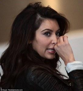 Kim Kardashian Bald Spot