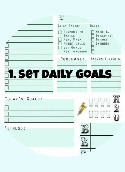 Set Daily Goals